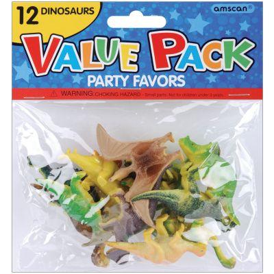 Party Favors 12/Pkg Dinosaurs - 390186