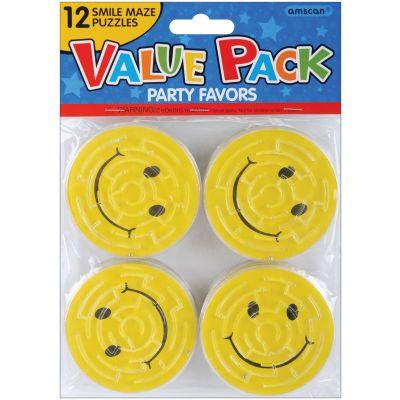 Party Favors 12/Pkg Smile Maze Puzzles - 390323