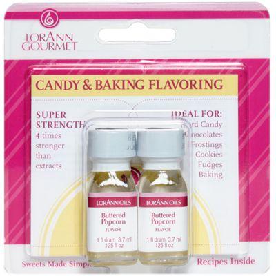 Candy & Baking Flavoring .125Oz 2/Pkg Buttered Popcorn - FLAVOR-0892