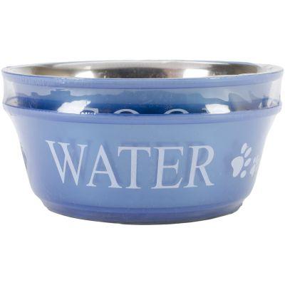 Food & Water Set Medium 1Qt Blue - 10151