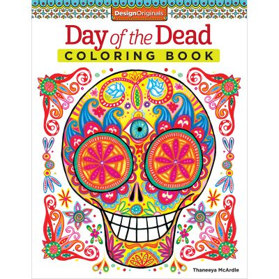 Design Originals Day Of The Dead Coloring Book - DO-5496
