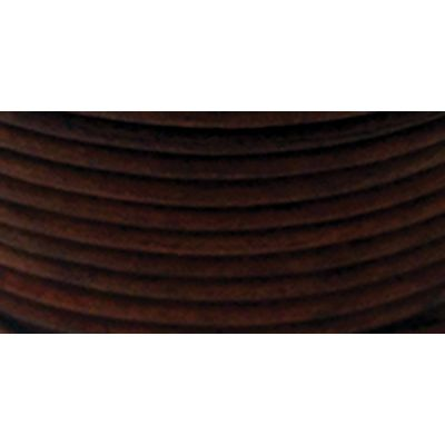 Realeather Crafts Round Leather Lace 2Mmx25Yd Spool Cedar - RL2520-0409