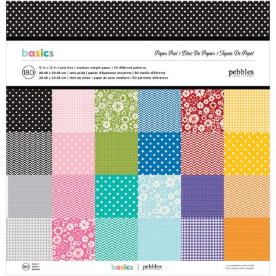 Pebbles Single Sided Paper Pad 12