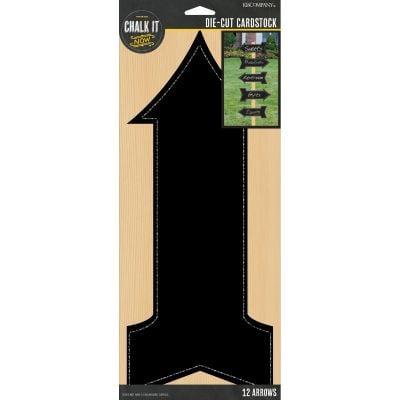 Chalk It Now Chalkboard Cardstock Die Cuts 12/Pkg Arrows 5