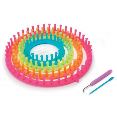 Darice Easy Knitting Round Loom 3/Pk-Neon Colors