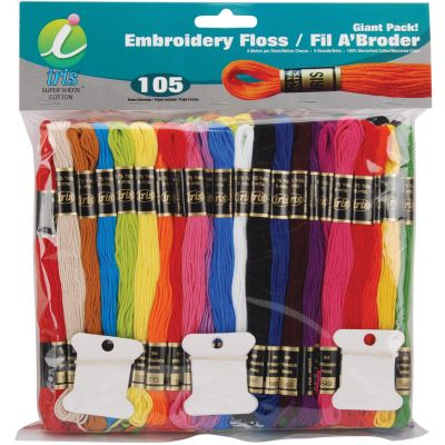 Iris Embroidery Floss Giant Pack 8.7yd 4/Pk-105pcs