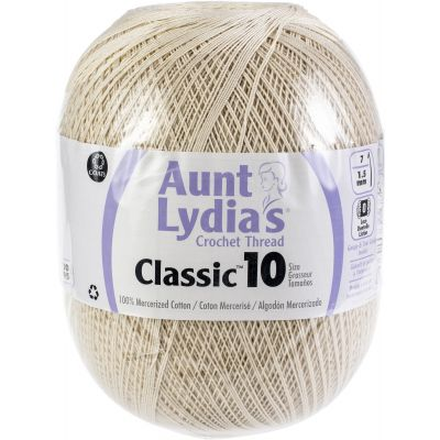Aunt Lydia's Classic Crochet Thread Size 10 Jumbo 3/Pk-Natural
