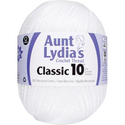 Aunt Lydia's Classic Crochet Thread Size 10 Jumbo 4/Pk-White