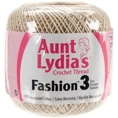 Aunt Lydia's Fashion Crochet Thread Size 3  12/Pk-Natural