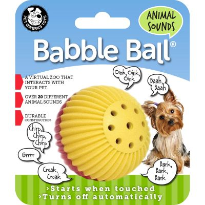 Small Animal Sounds Babble Ball Red & Yellow - ABB3