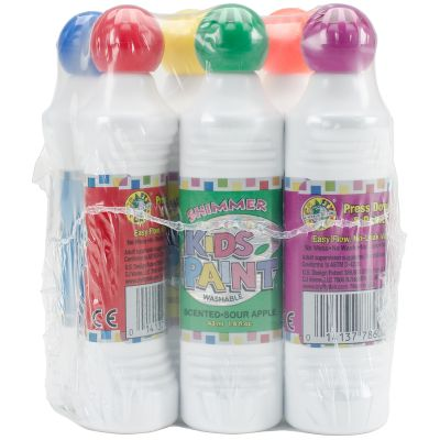 Kid'S Scented Shimmer Paint Markers 1.4Oz 6/Pkg Assorted Scents & Colors - 78721