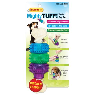 Mighty Tuff Treat Cup Bone Dog Toy  - 80650