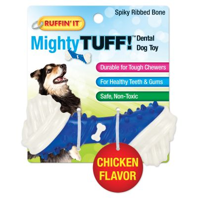 Mighty Tuff Spiky Ribbed Bone Dog Toy  - 80656