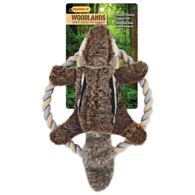 Woodlands Plush Chipmunk Rope Ring Tosser Dog Toy  - 16269