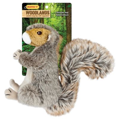 Woodlands Large Plush Squirrel Dog Toy  - 16272
