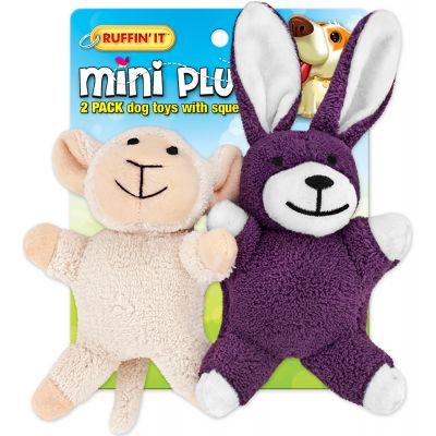Mini Plush 2Pk Puppy Toys Assortment Lamb/Bunny - 16252