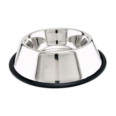 Stainless Steel Non Skid Dish 24Oz  - 19124