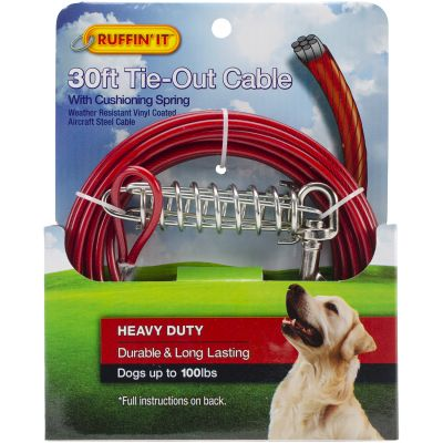 Heavy Duty Cable Tie Out W/Cushioning Spring 30Ft  - 29230