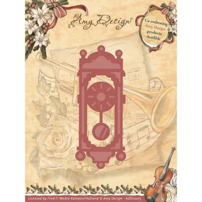 Find It Trading Amy Design Vintage Christmas Die Old Fashioned Clock - ADD10013
