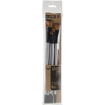 Finnabair Art Basics Brush Set 7/Pkg Sizes: 0, 2, 4, 1/4, 1/2, 3/4, 1 - 962760