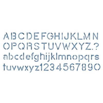 Stencil Magic Decorative Stencils Block Alphabet 5.25