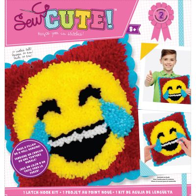 Emoji Sew Cute! Latch Hook Kit Emoji Laugh Tears - 73732
