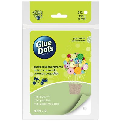 Glue Dots Clear Dot Sheets Mini .1875