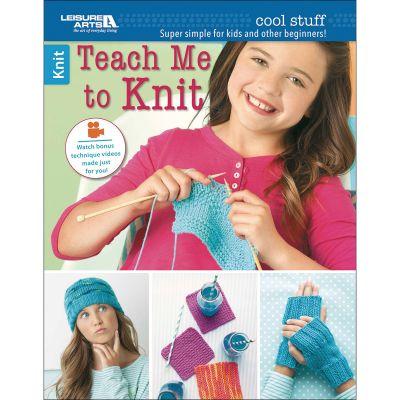 Leisure Arts Cool Stuff Teach Me To Knit - LA-6648