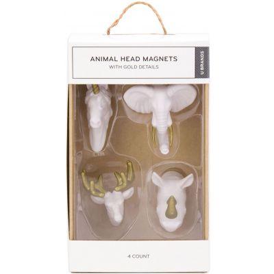 Animal Head Magnets 4/Pkg - 102U0624