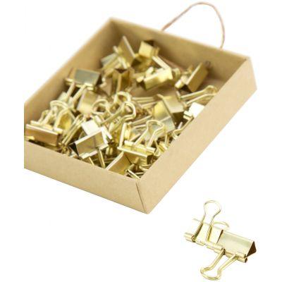 Mini Gold Binder Clips Gold, 40/Pkg - 763A0624