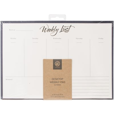 Weekly Note Pad Gold Foil 52 Pages - 263A0624