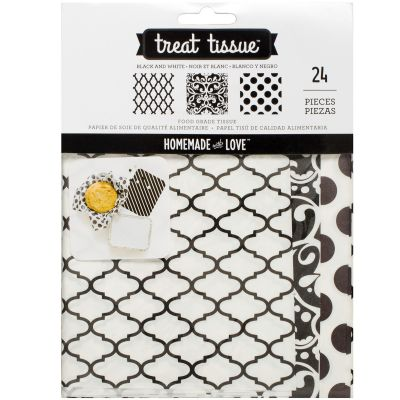 Homemade With Love Food Craft Tissue 24/Pkg Black And White - 376237