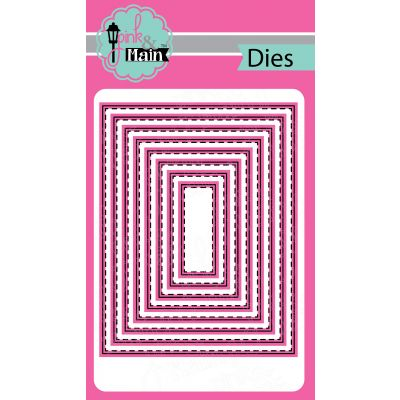 Pink & Main Dies Stitched Rectangles .5