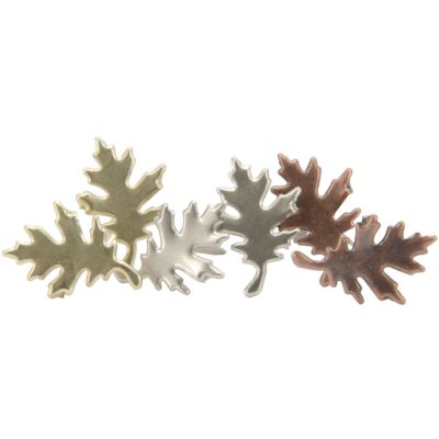 Metal Paper Fasteners 25/Pkg Leaves  Antique - CI95560