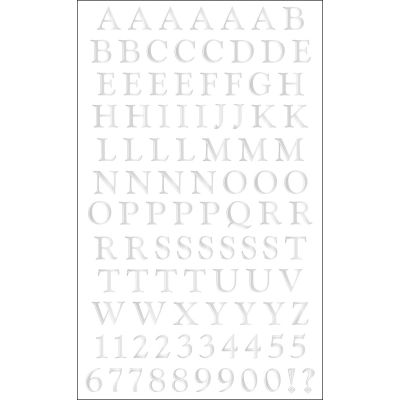 Mrs. Grossman'S Stickers Classic Alphabet Silver - MG399-19493