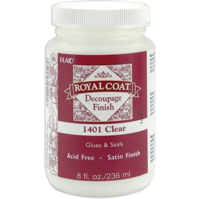 Royal Coat Satin Decoupage Finish 8Oz Clear - 1401