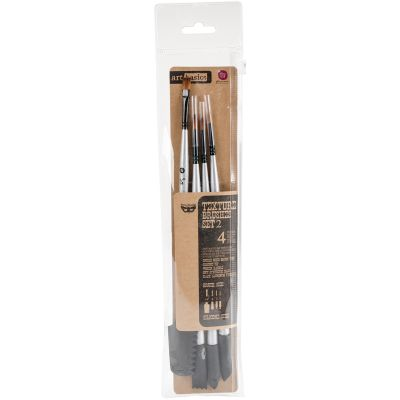Finnabair Art Basics Double Ended Brush Set 4/Pkg Texture #2 - 963866