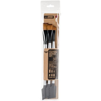 Finnabair Art Basics Double Ended Brush Set 3/Pkg Texture #1 - 963873