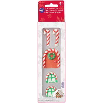 Candy Decorations 5/Pkg Gingerbread Door & Windows - W5813