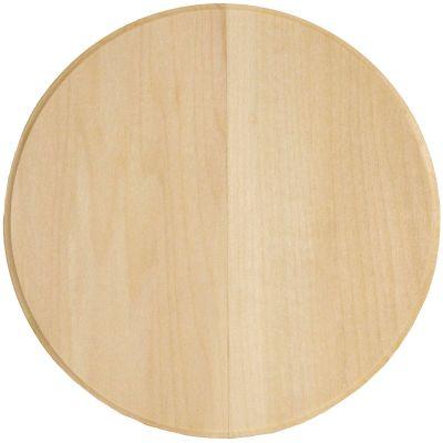Basswood Circle Thin Plaque 6
