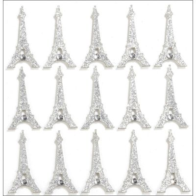 Jolee'S Cabochon Dimensional Repeat Stickers Eiffel Towers - E5021183