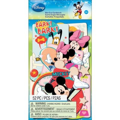 Disney Cardstock Die Cuts 52/Pkg Mickey Family - E5100112
