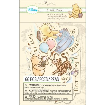 Disney Cardstock Die Cuts 66/Pkg Classic Pooh  Firsts - E5100115