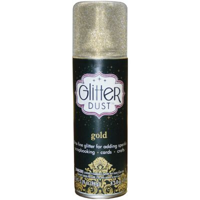 Glitter Dust Aerosol Spray 4.2Oz Gold - TW31-1