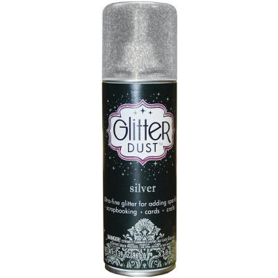 Glitter Dust Aerosol Spray 4.2Oz Silver - TW31-2