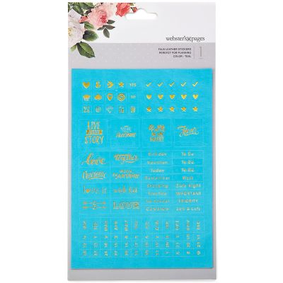 Color Crush Planner Foil Embossed Stickers Teal Words - WSP-110