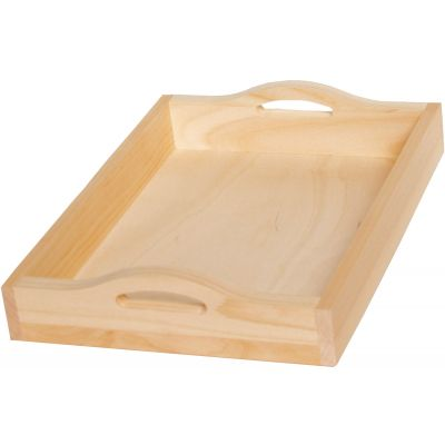 Pine Rectangle Serving Tray W/Handles 15