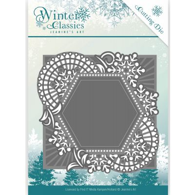 Find It Trading Jeanine'S Art Winter Classics Die Mosaic Frame - JAD10015