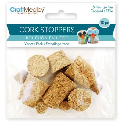 Cork Stoppers Value Pack Assorted 10/Pkg - GC035