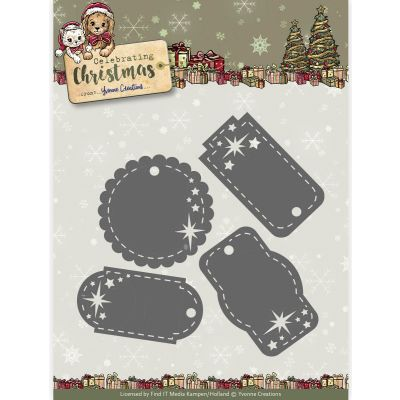 Find It Yvonne Creations Celebrating Christmas Die Star Tags - YCD10110